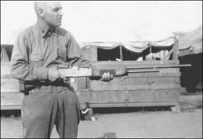 Ward Poché Sr. demonstrating BAR rife during basic training